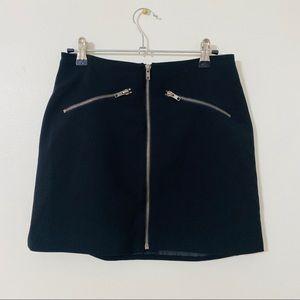 Forever 21 Black Zipper Mini Skirt